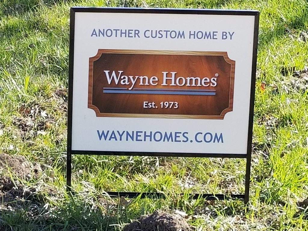 New Wayne Homes Sign