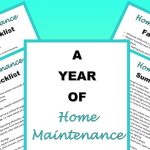 Free Home Maintenance Checklist!