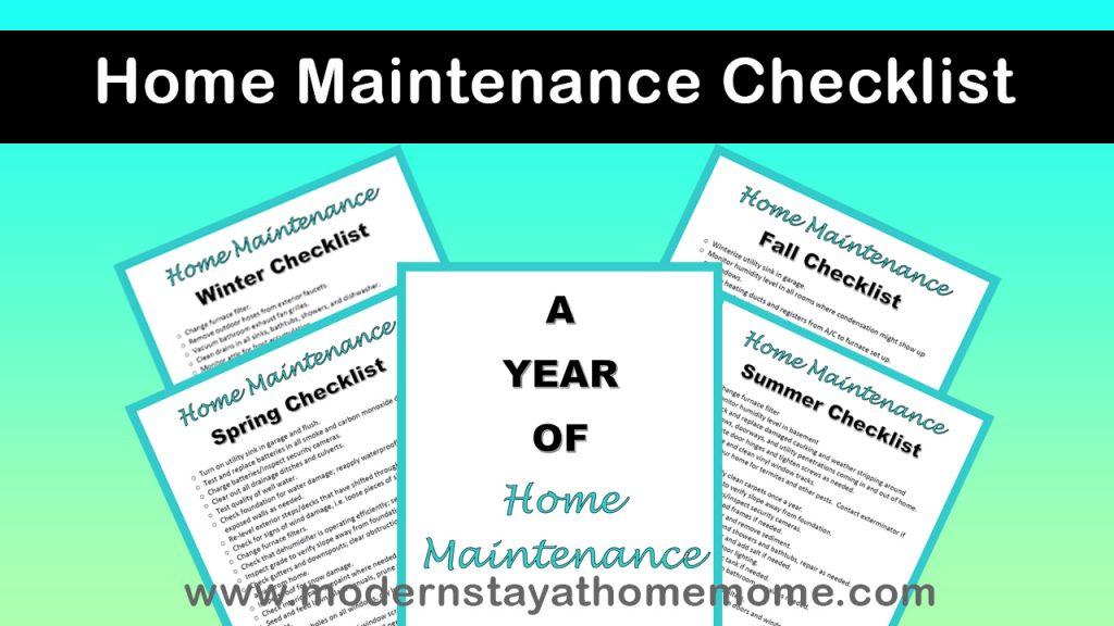 Free Home Maintenance Checklist