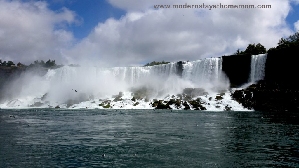 Niagara Falls as seen from Maid of the Mist