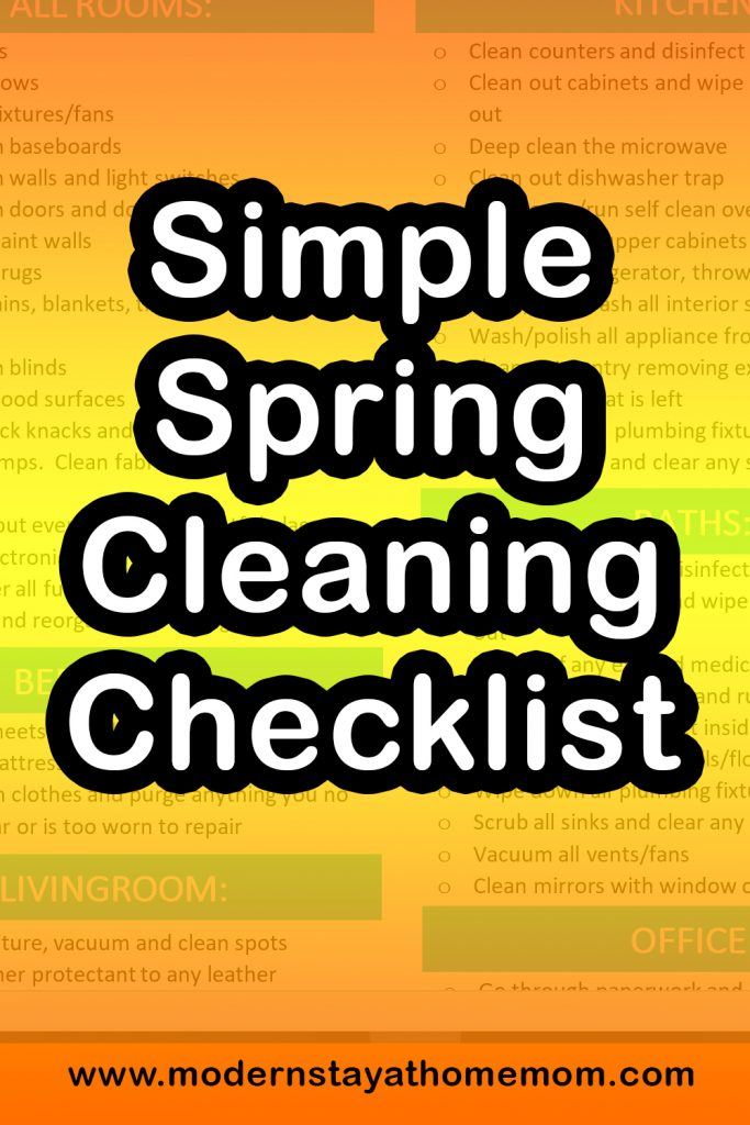 Simple Spring Cleaning Checklist
