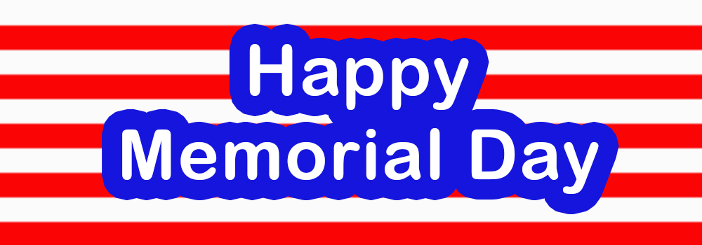 Happy Memorial Day Banner