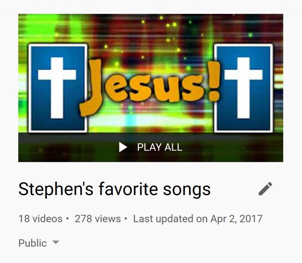 Stephen's Playlist